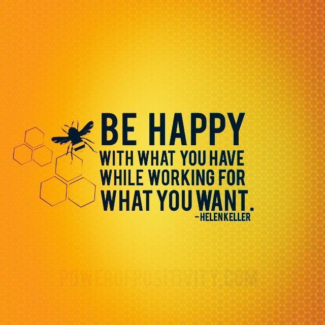 inspirational quote be happy