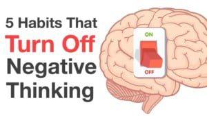 Replace negative thinking