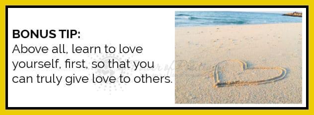 bonus tip love yourself