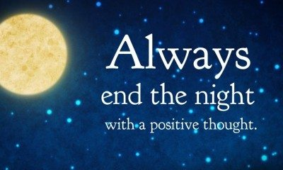 end the night positive thoughts