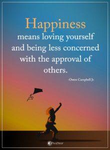 don't seek approval or feel ashamed