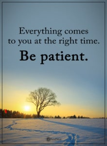patience and finding guidance