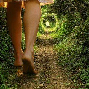 walking-barefoot