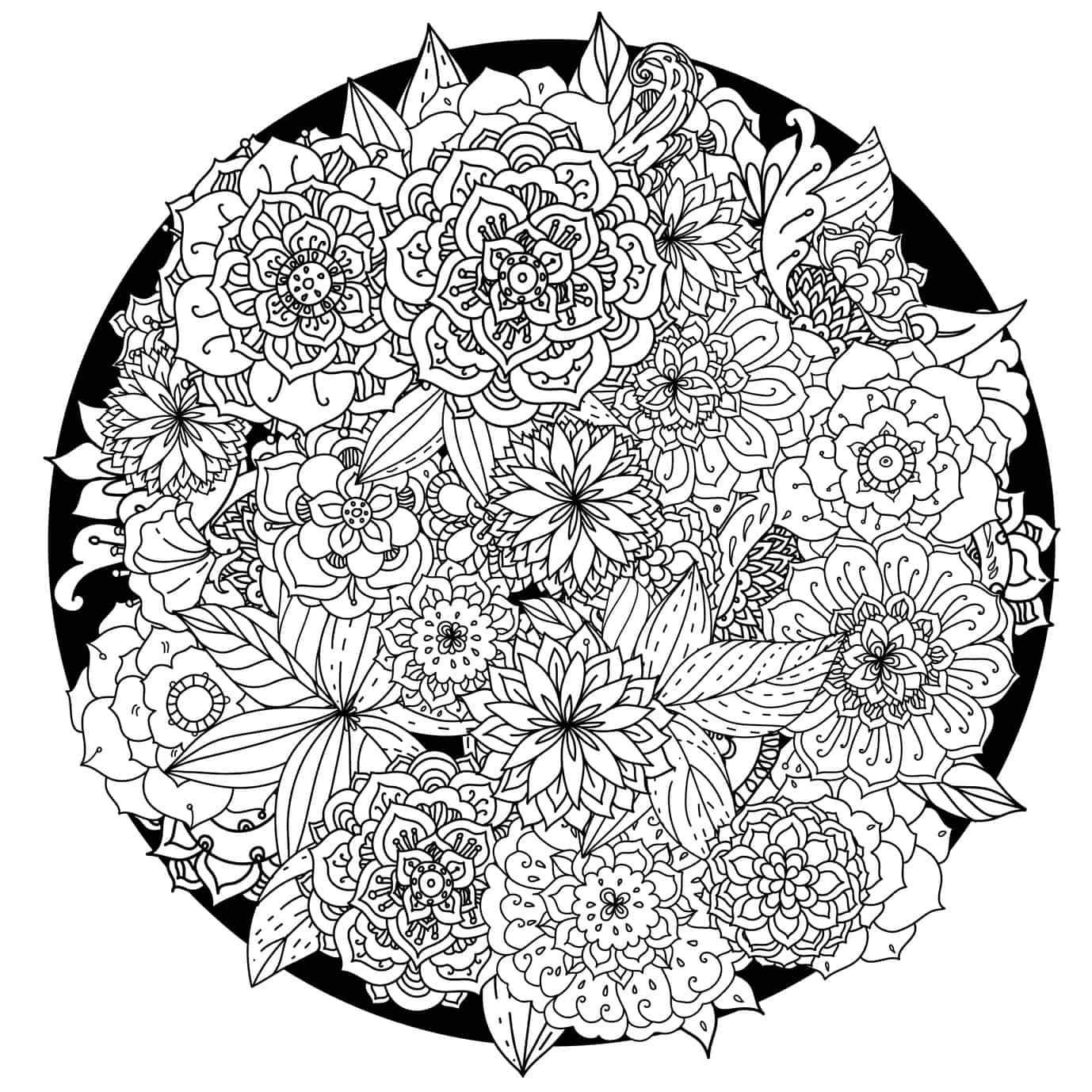 These printable abstract coloring pages relieve stress and for Love mandala coloring pages