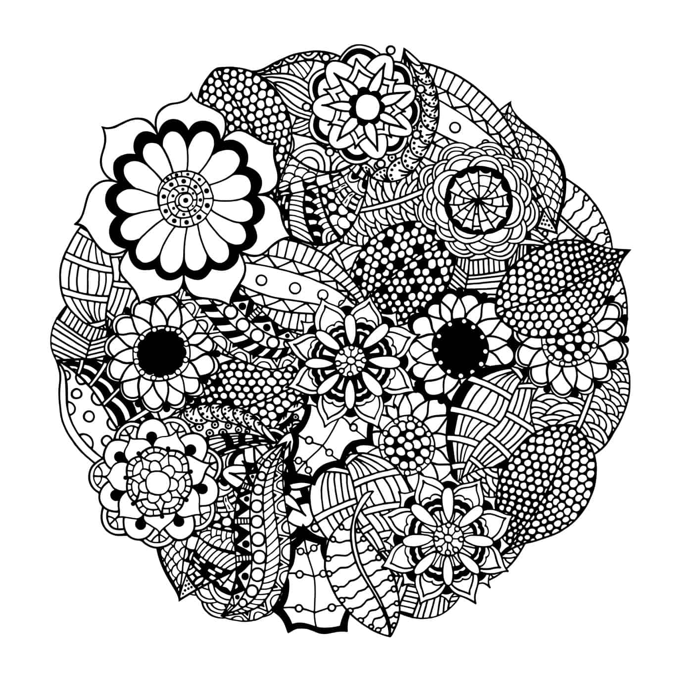 These printable abstract coloring pages relieve stress and for Adult coloring pages mandala