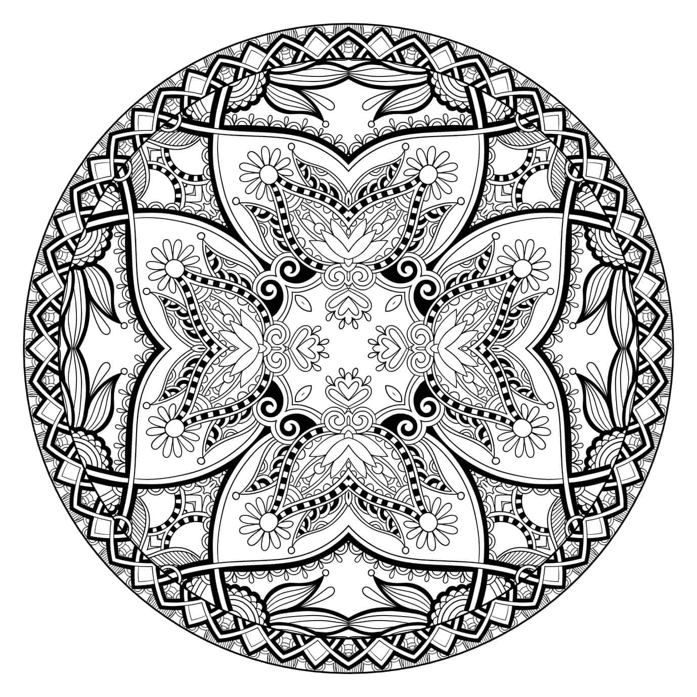 Colouring adults benefits - Adult Coloring Mandala