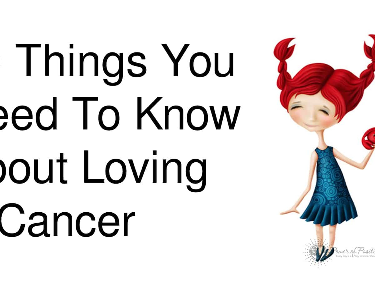 Man love with cancer in a signs you is 10 Truths