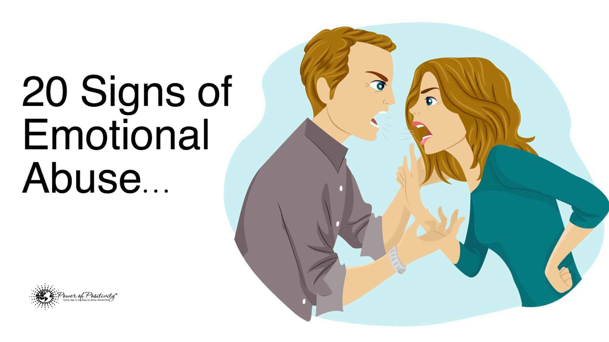 Signs of emotionally abusive relationships
