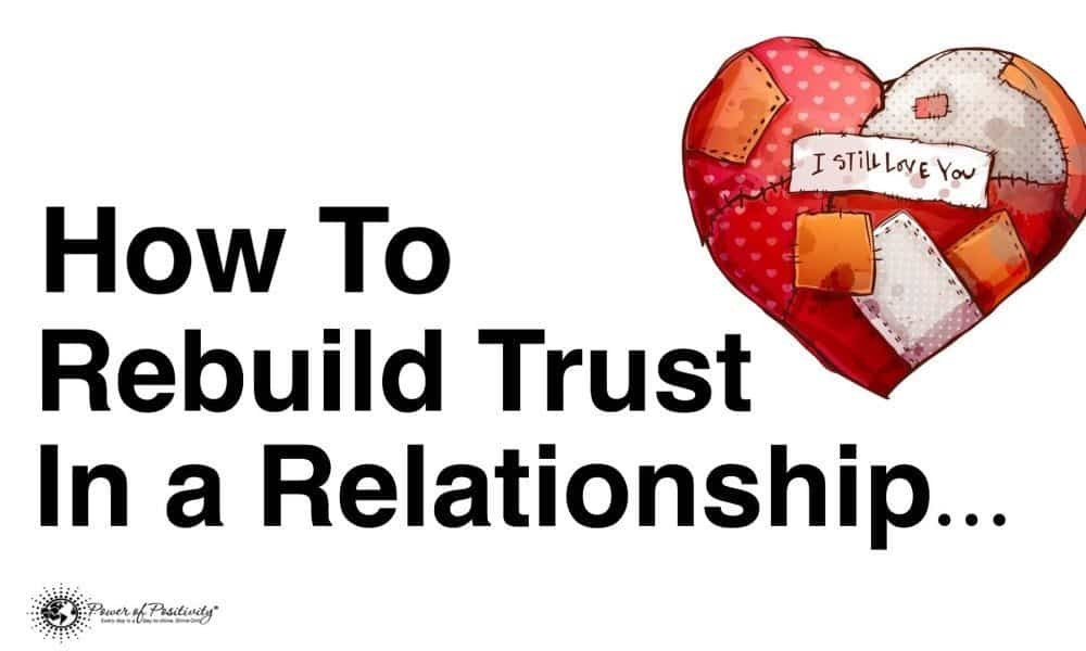 how to regain trust in your relationship