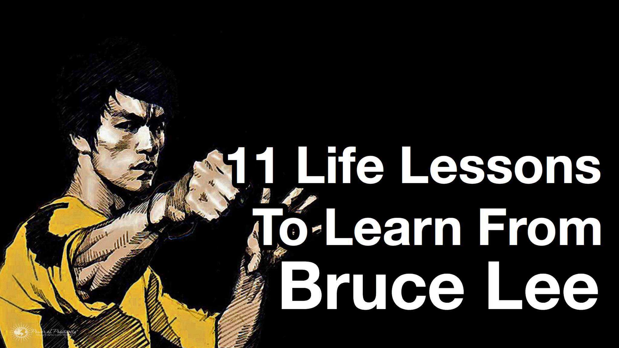 Inspirational Quotes About Life Lessons 11 Life Lessons From Bruce Lee