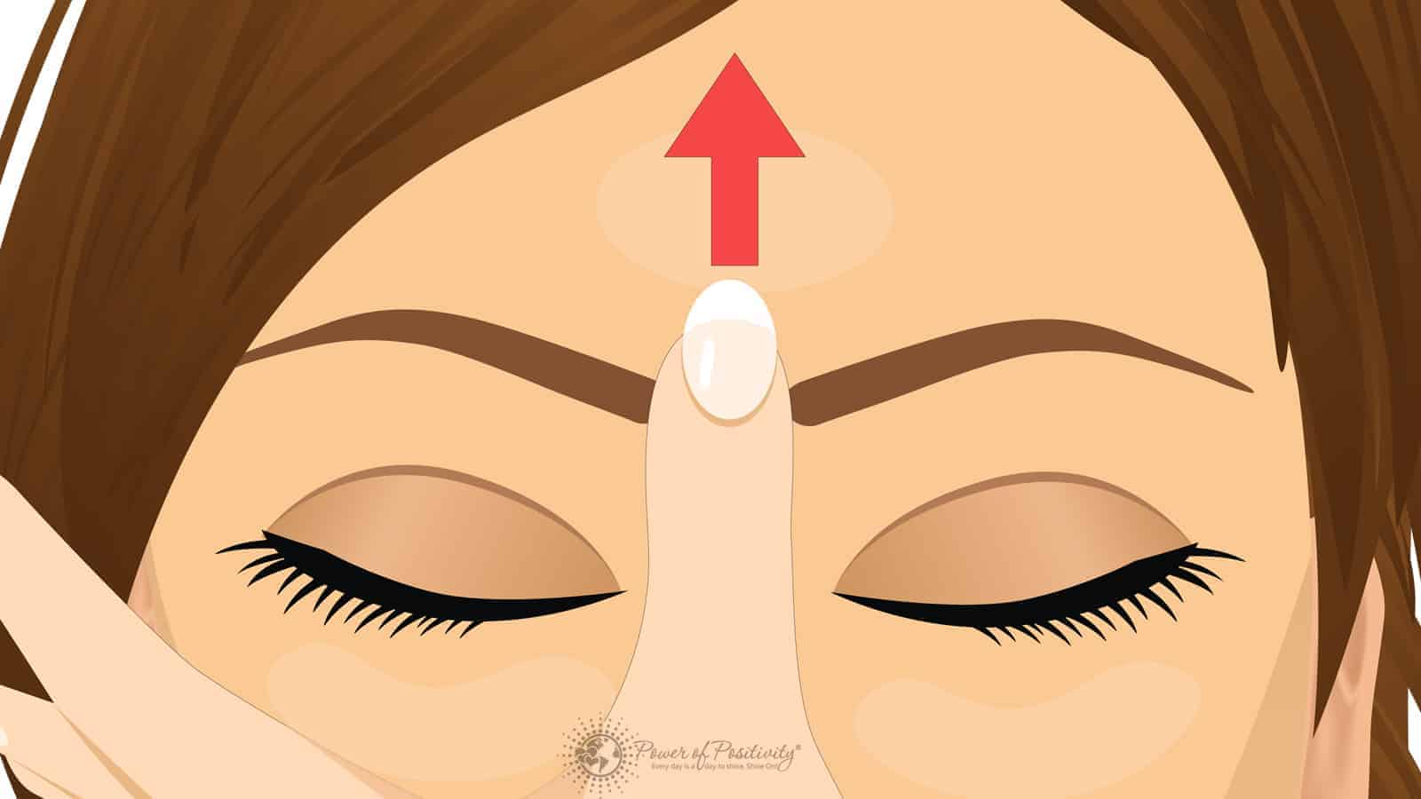 Heres What Happens When You Massage This Point On Your Forehead