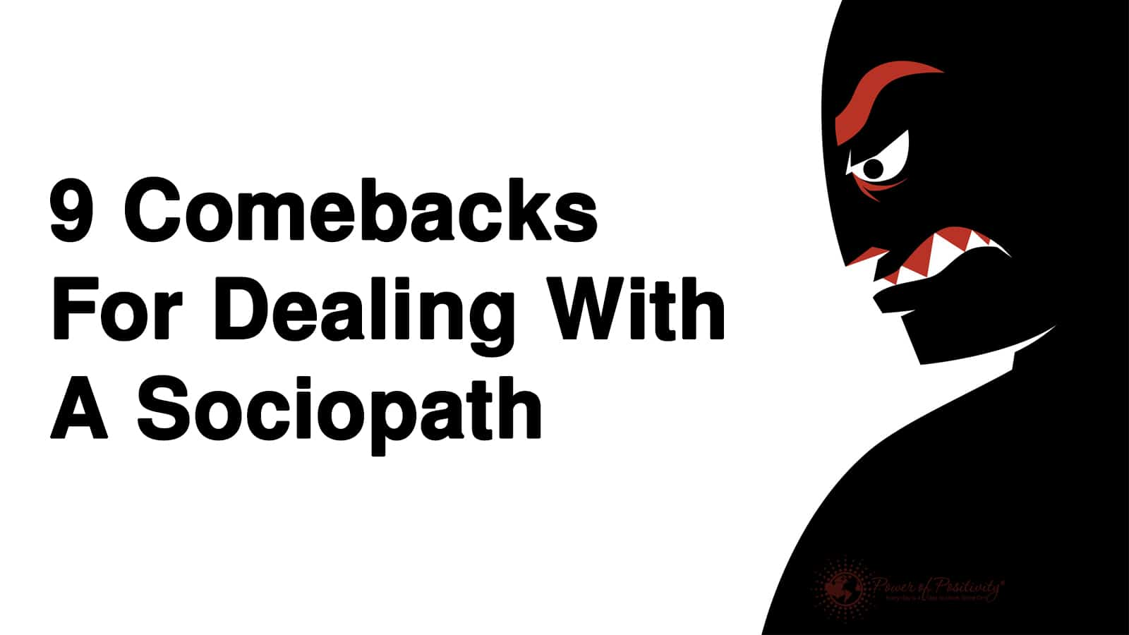 Dealing with sociopaths