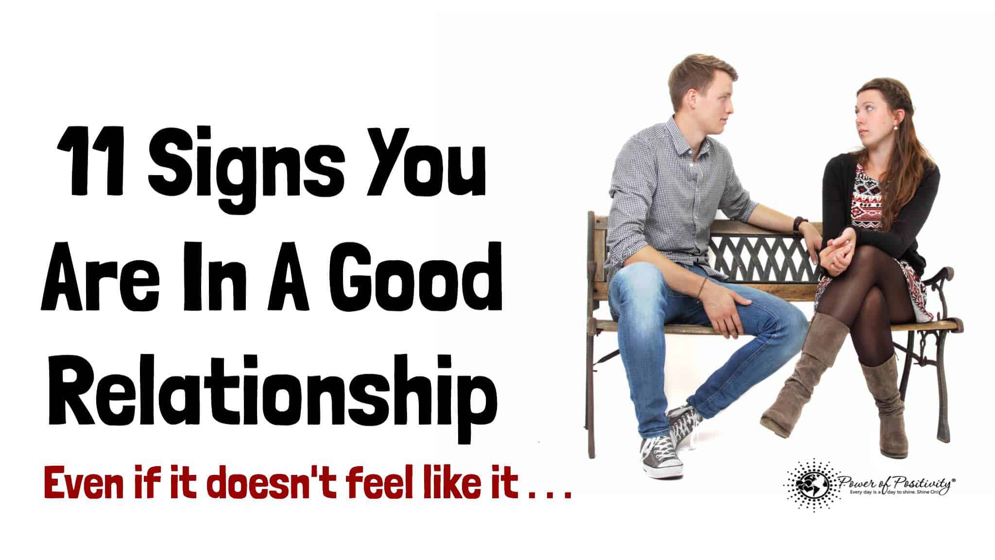 How To Know You Are In A Good Relationship