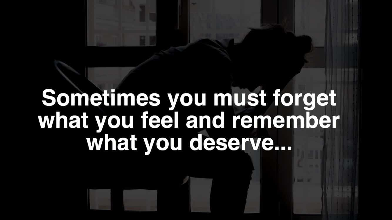 what you deserve quote