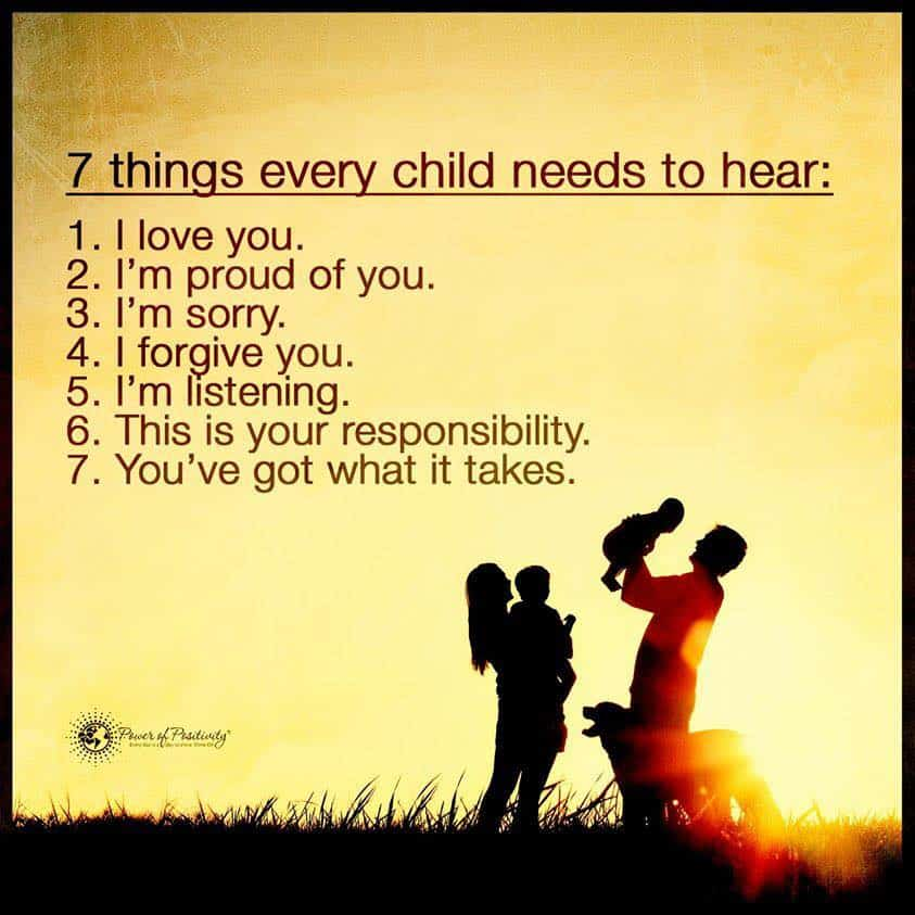 things child needs hear