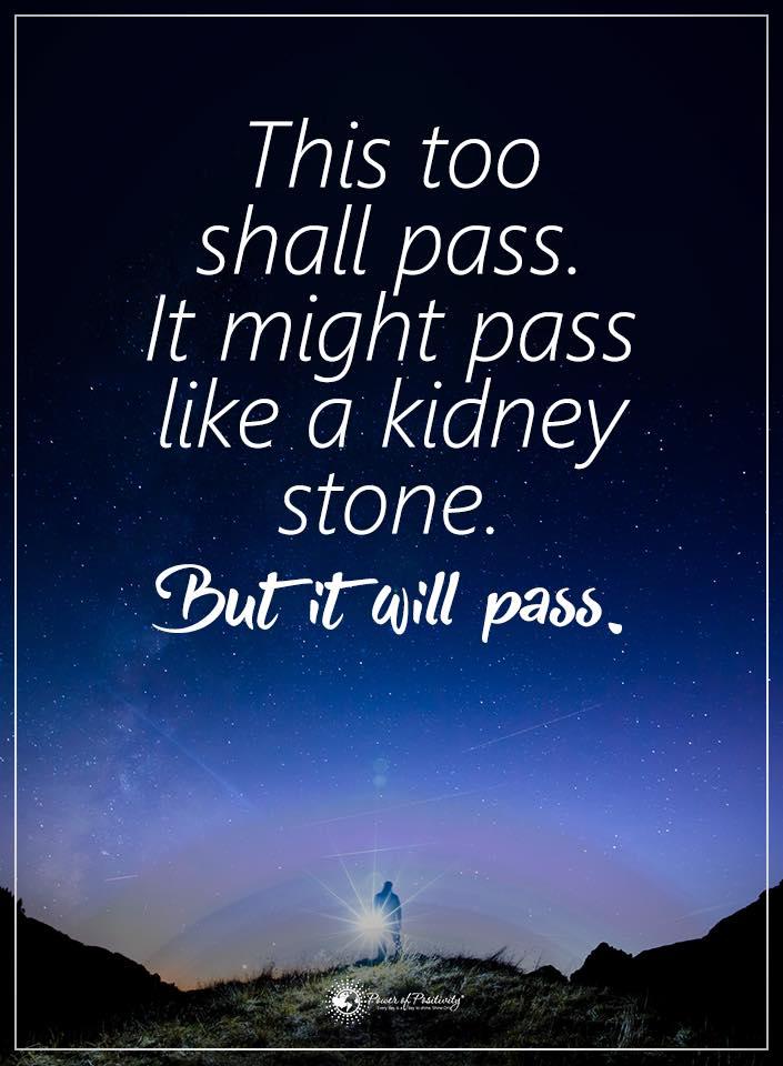 it will pass