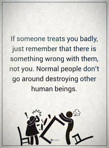 treat people badly