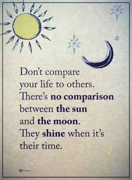 compare yourself to others