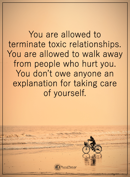 Ending a toxic relationship