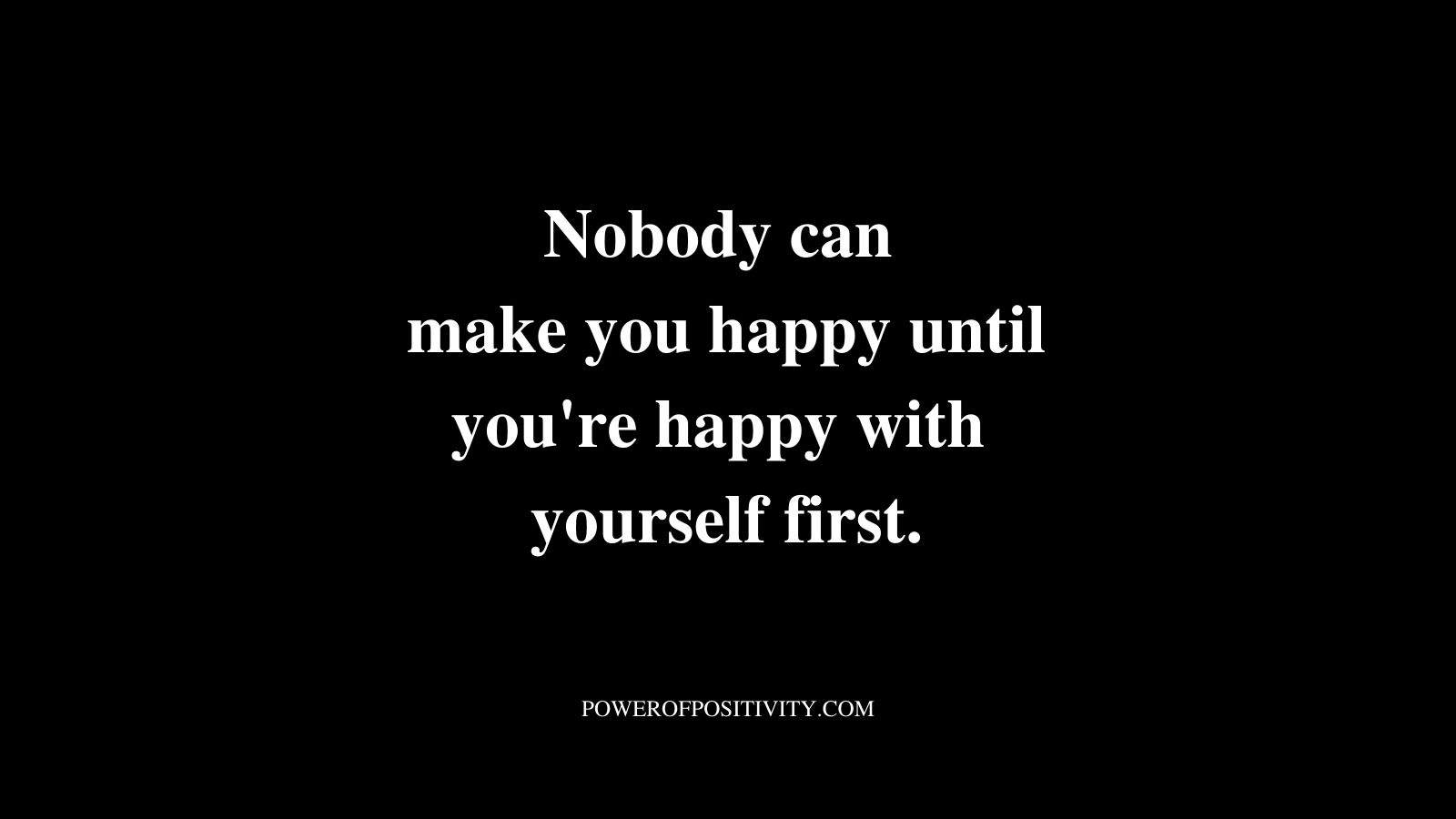 happy with yourself quote