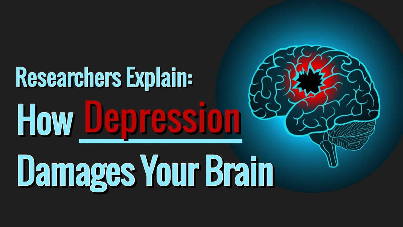 Researchers Explain How Depression Damages Parts of Your Brain