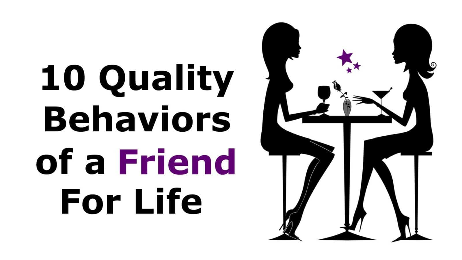 behaviors of friend for life