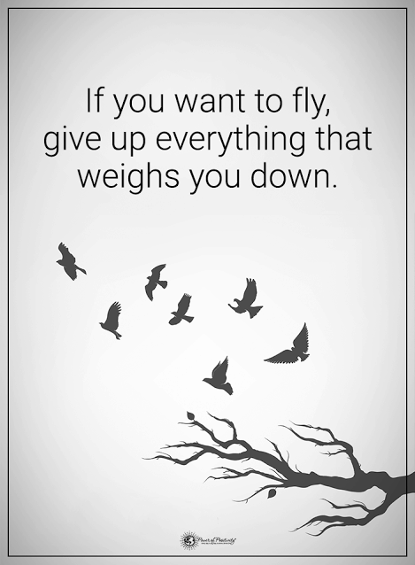 give up what weighs you down