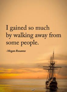 walking away from people