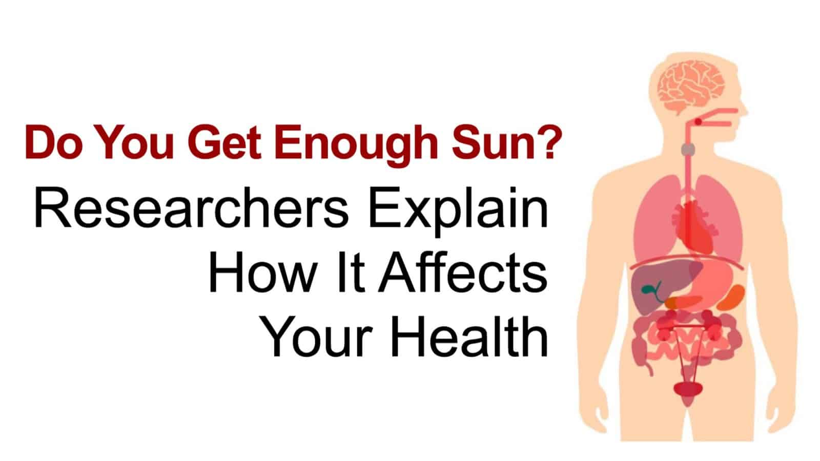 How sun affects your health