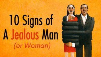 jealous man or woman partner