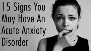 acute anxiety treatment