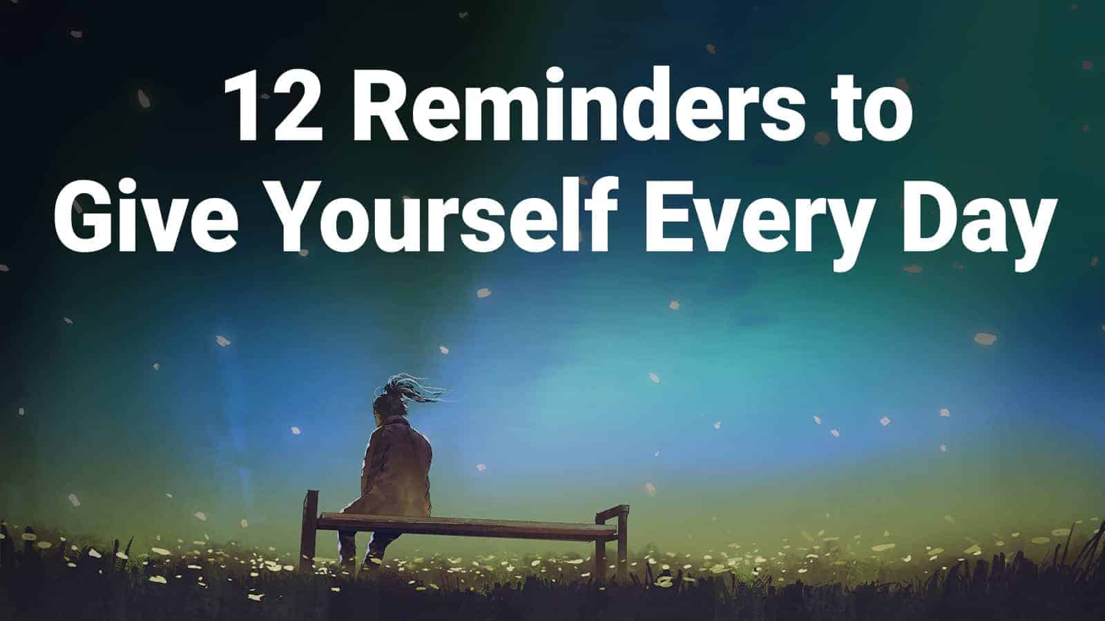 reminders to yourself