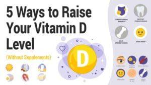 Increase vitamin d intake - vertigo