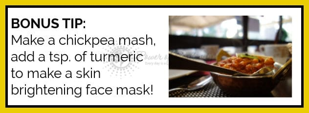 chickpea face mask