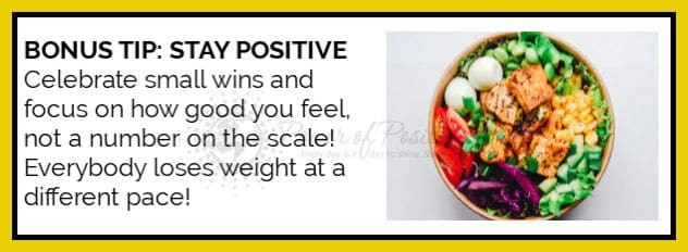 bonus tips stay positive lose weight