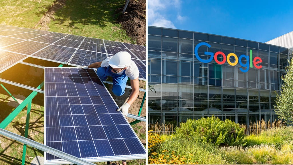 google shares renewable energy plans