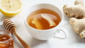 ginger tea to relieve cough and flu