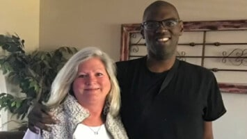 heart transplant patient and nurse