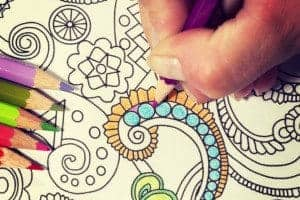 coloring and meditation