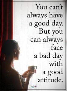 waking up positive