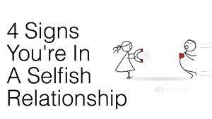 selfish person