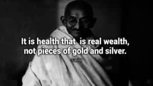 Gandhi be positive quote