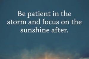 терпение, а не гнев