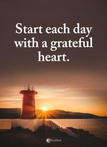 gratitude comes from experiences