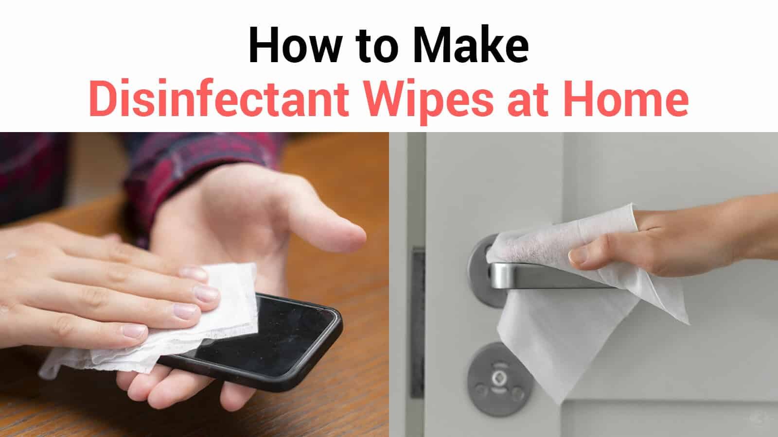 make disinfectant wipes