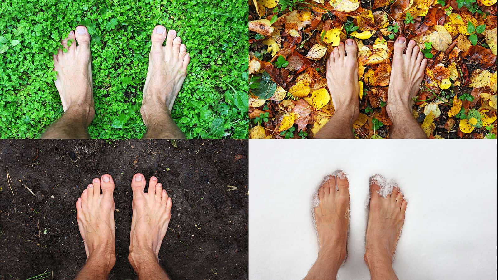 walking with bare feet