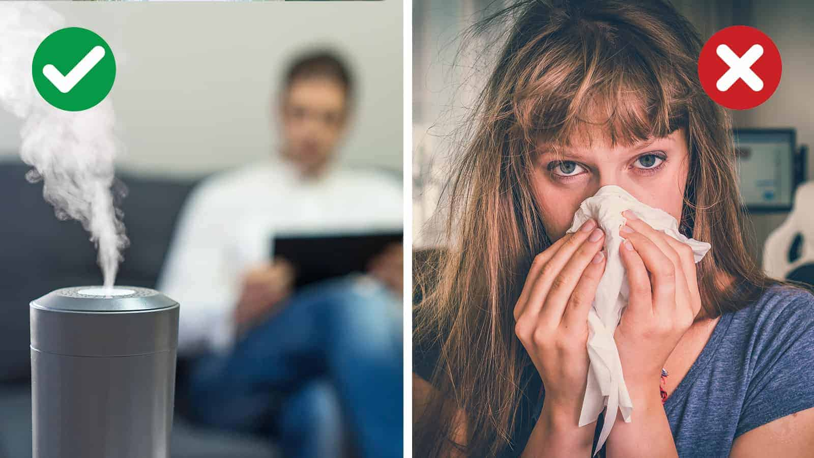 avoid catching a cold