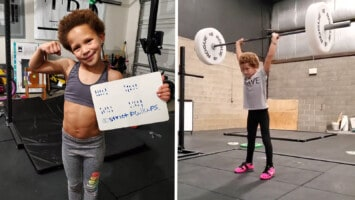 7 year old weightlifter