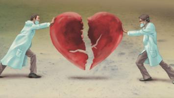 broken hearted person