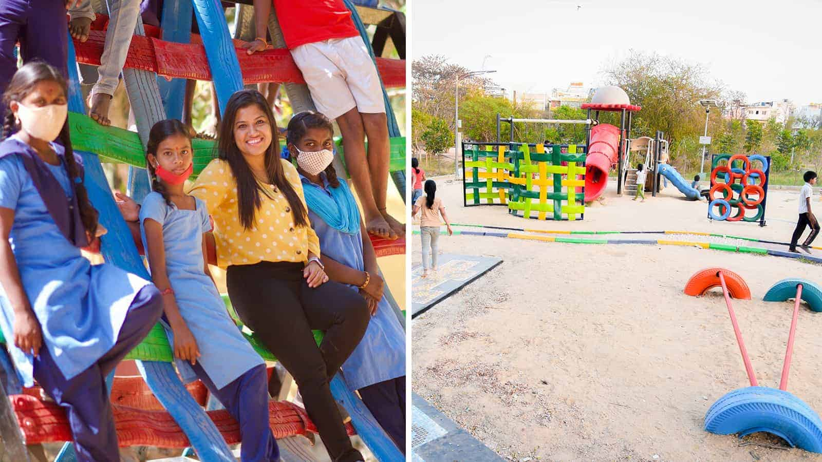 playgrounds from recycled tires